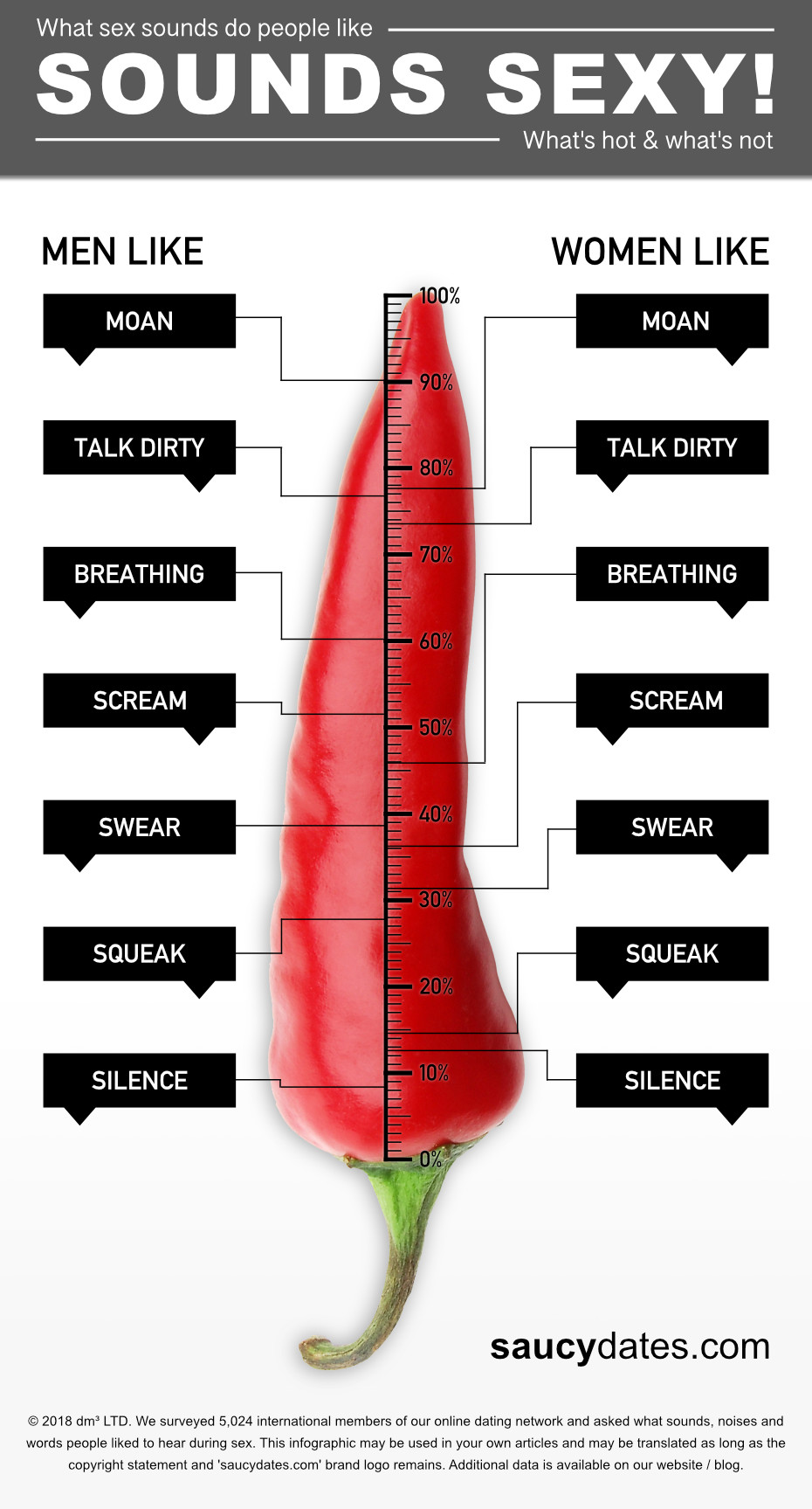Sex talk and sounds infographic